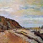 Boatyard Near Honfleur Art Print by Claude Monet