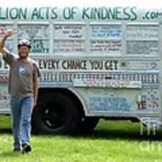 Bob And The Kindness Bus Art Print