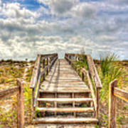 Boca Grande Boardwalk Art Print