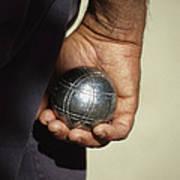 Bocce Bowler Holding A Ball Art Print