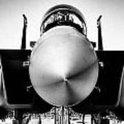 Boeing F-15sg Eagle Black And White Art Print
