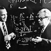 Bogolyubov (right), Soviet Physicist Art Print by Ria Novosti