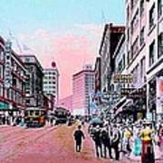 Bon Marche Department Store In Seattle Wa In 1910 Art Print