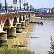 Bordeaux Bridge Art Print