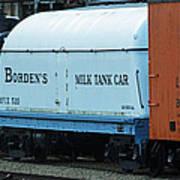 Bordens Milk Tank Car Art Print