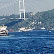 Bosphorus Traffic Art Print