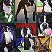 Boston Acrylic Collage Art Print