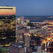 Boston By Night. Art Print