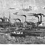 Boston: Iron Foundry, 1876 Art Print