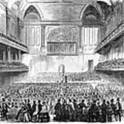 Boston: Music Hall, 1856 Art Print