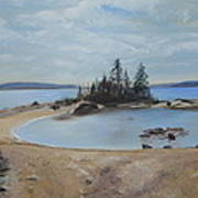 Boswell's Point-lake Superior Art Print