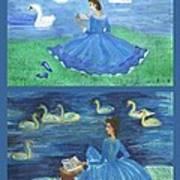 Both Swan Lake Readers Art Print