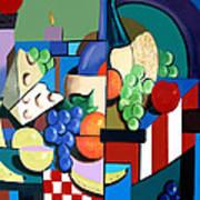 Bottle Of Wine Fruit Of The Vine Art Print