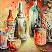Bottles And Glasses And Mugs 03 Art Print