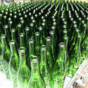 Bottles At A Wine Bottling Factory Art Print by Ria Novosti