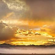 Boulder Colorado Flagstaff Fire Sunset View Art Print