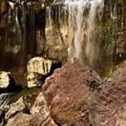 Boulders Under The Falls Art Print