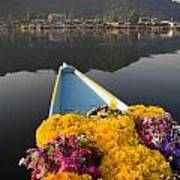 Bouquet Of Flowers In Bow Of Boat Dal Art Print