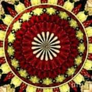 Bouquet Of Roses Kaleidoscope 5 Art Print