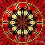 Bouquet Of Roses Kaleidoscope 8 Art Print