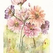 Bouquet Zinnias II Art Print