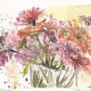 Bouquet Zinnias Art Print