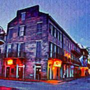 Bourbon Street In The Quiet Hours Art Print