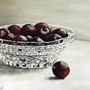 Bowl Full Of Cherries Art Print