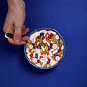 Bowl Of Pills Art Print