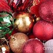 Box Of Christmas Decorations  Art Print