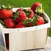 Box Of Strawberries Art Print