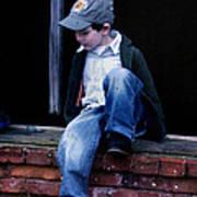Boy In Window Art Print