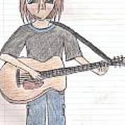 Boy With Guitar Art Print