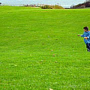 Boy With His Kite Maine Art Print