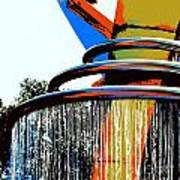 Boyd Plaza Fountain Art Print