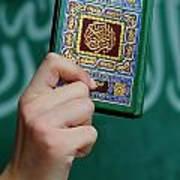 Boy's Hand Holding Koran Art Print