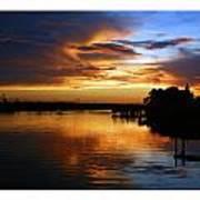 Braden River Sunset Art Print