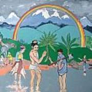Brahmadatta Finds Mango Art Print by Scott Cumming
