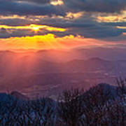Brasstown Sunset Art Print