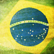 Brazil Flag Art Print by Setsiri Silapasuwanchai