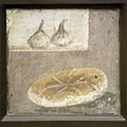 Bread And Figs, Roman Fresco Art Print by Sheila Terry