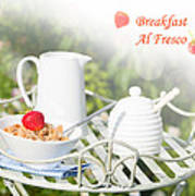 Breakfast Al Fresco Art Print by Amanda Elwell