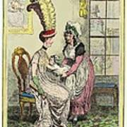 Breastfeeding, 18th-century Caricature Art Print