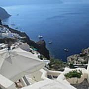 Breathtaking Santorini Art Print