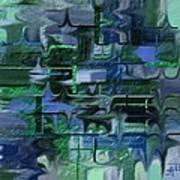 Brick And Blue Art Print
