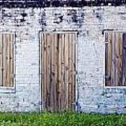 Brick And Wooden Building Art Print