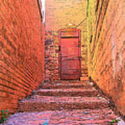 Old Stairs - Bisbee Az Art Print