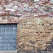 Brick Wall Window Art Print
