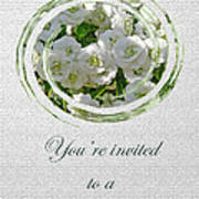 Bridal Shower Invitation - White Spirea Art Print