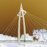 Bridge Iced Art Print by David Alvarez